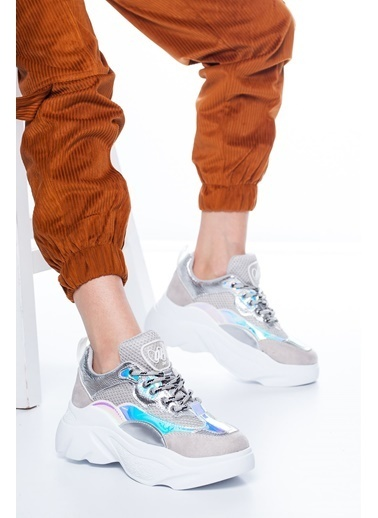 Mask Sneakers Gümüş